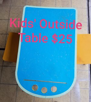 Outside kids' table for Sale in Spring Valley, CA