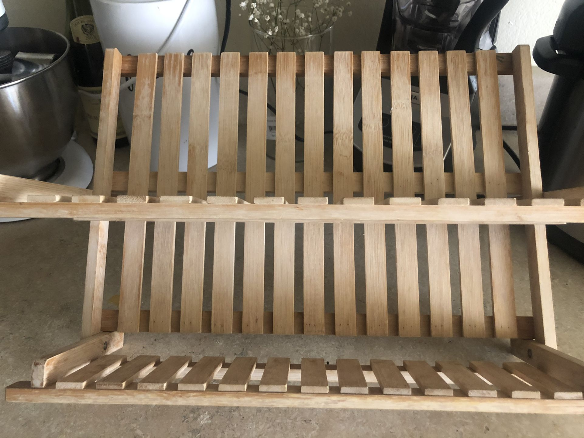 Wooden Dish Drying Rack