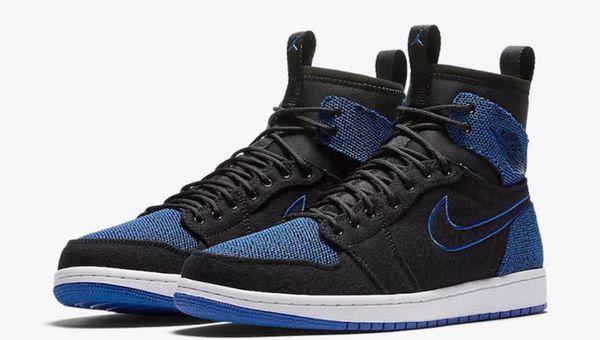 d005fa21ea2b5e Nike Men s Air Jordan 1 RETRO ULTRA HIGH Shoes Black Sport Royal 844700-007  Sz 12