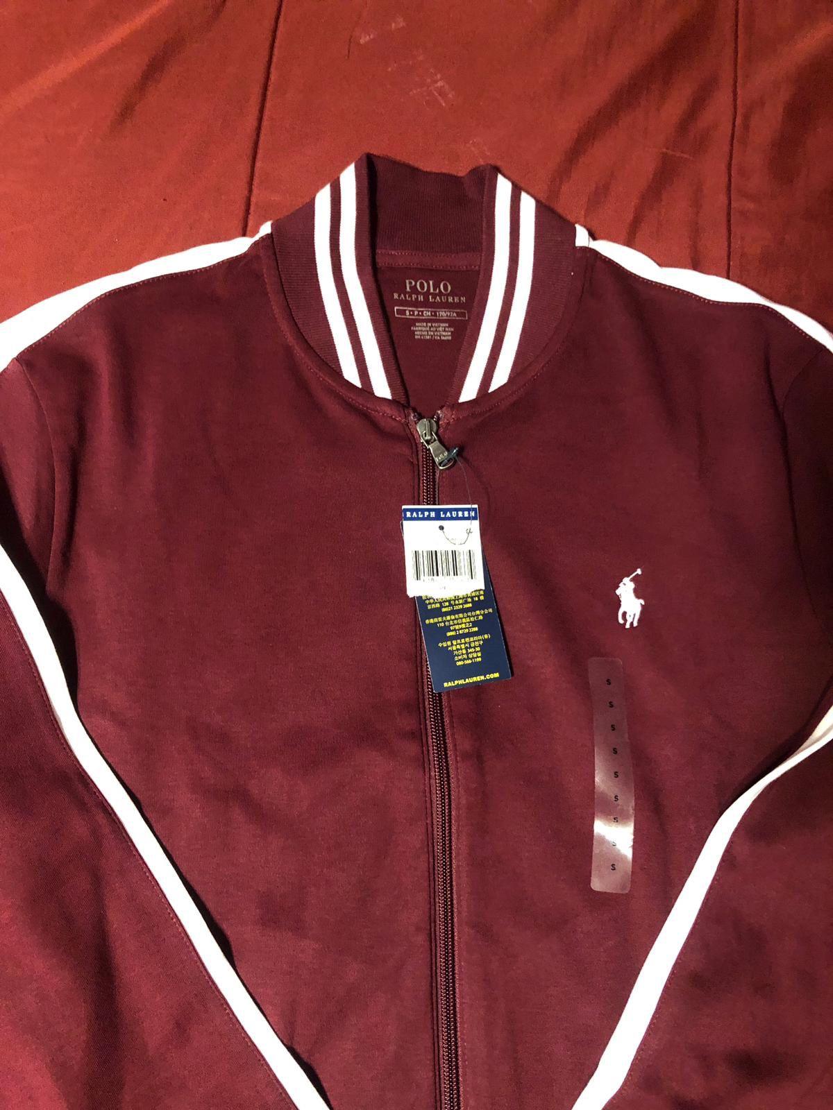 Mens Burgandy Ralph Lauren Polo Jacket