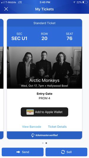 Arctic Monkeys tonight! for Sale in Los Angeles, CA