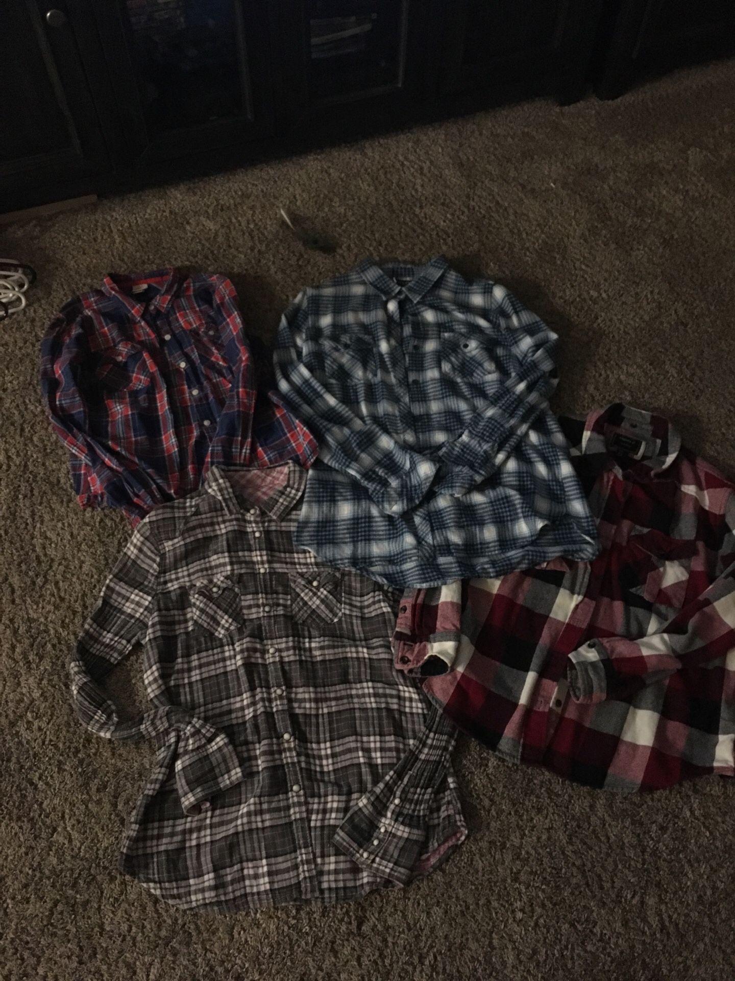 Women's M flannels