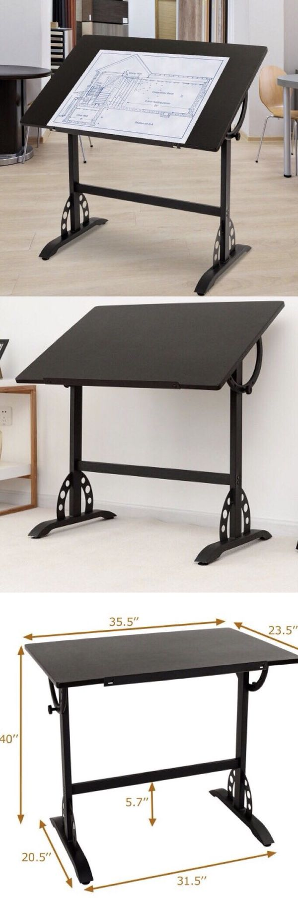 new in box adjustable drafting drawing sketching desk design studio