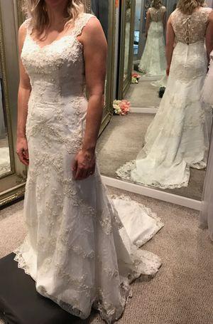 Marietta Ga Carrafina Wedding Dress Size 8 Brand New With Tags Unaltered Veil