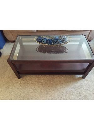 Wood/stainless steel coffee table w/ drawers MUST GO SOON for Sale in Richmond, VA
