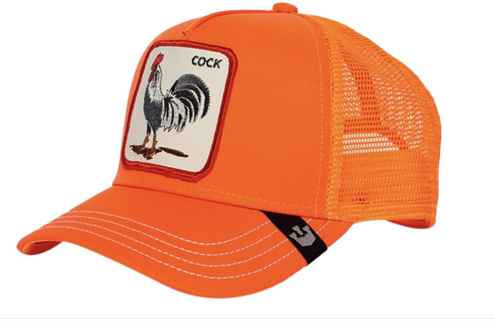 Goorin bros rooster orange animal farm trucker hat
