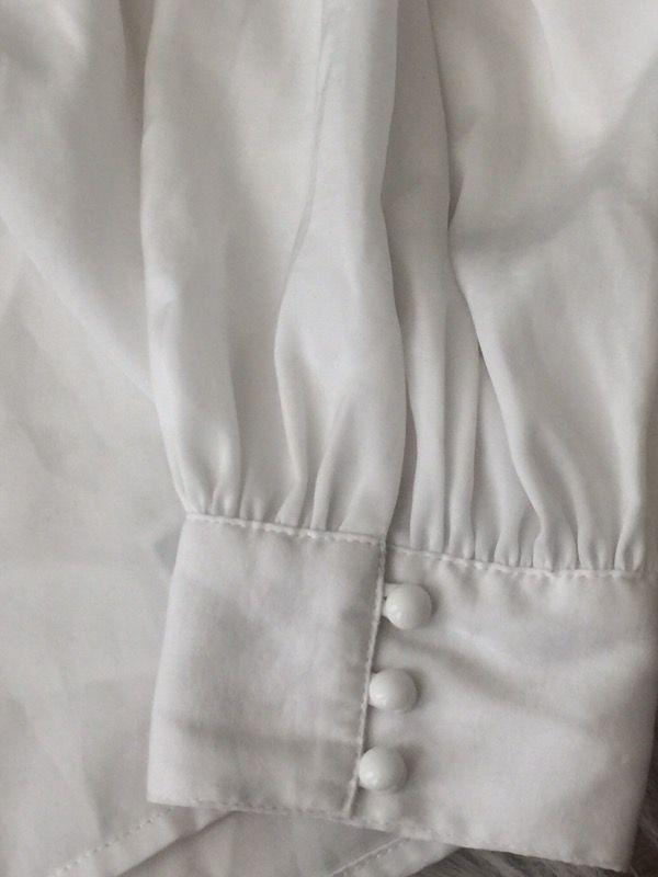 White silk top
