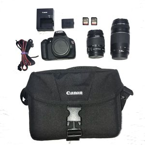 Canon EOS T5 DSLR w/ Lenses and SD Cards for Sale in Arlington, VA