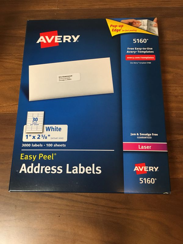 New box of Avery address labels 5160 for Sale in Seabrook, TX - OfferUp