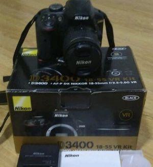 Nikon D3400 Digital SLR Camera + AF-P 18-55mm f/3.5-5.6G VR Lens for Sale in Boiling Springs, SC