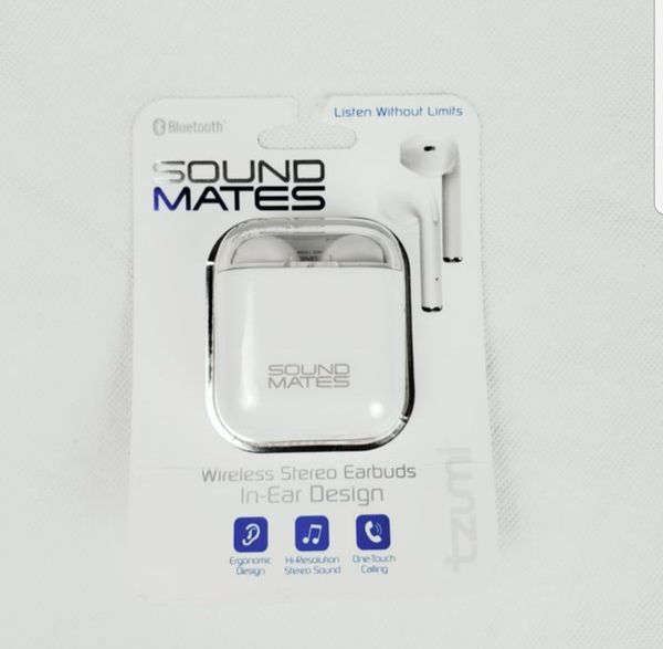 Wireless Bluetooth Earbuds With Charging Case, Tzumi Soundmates for Sale in  Harrisonburg, VA - OfferUp