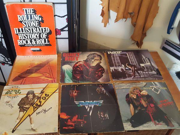 5 Rock Albums & Rolling Stones book & Led Zepplin book  for Sale in Eugene,  OR - OfferUp
