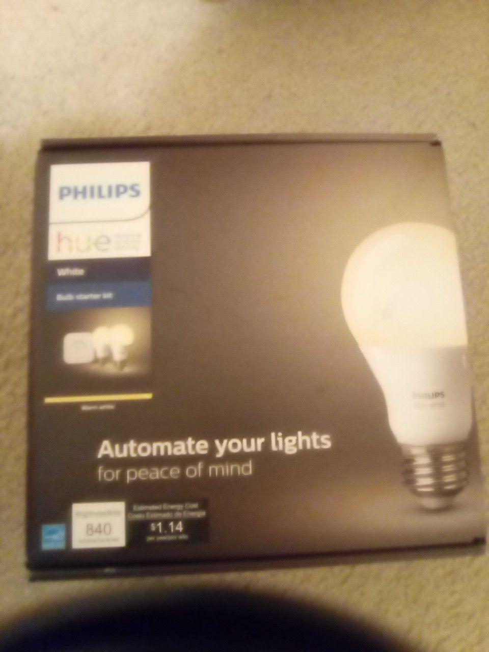Philips hue white bulb starter kit