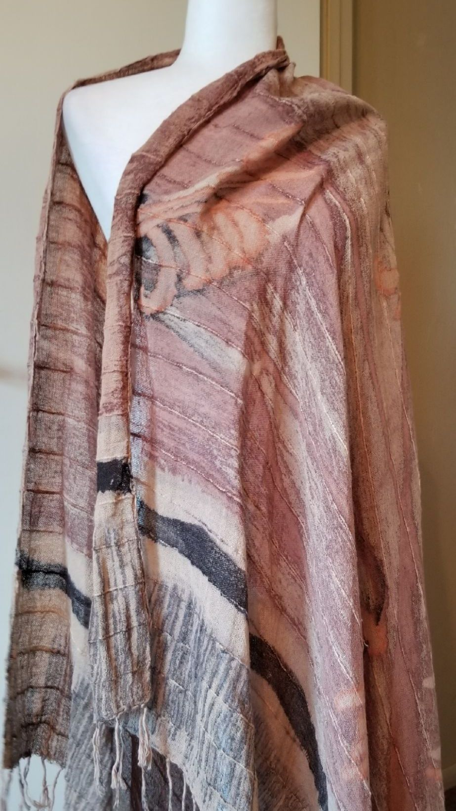 Blanket size scarf throws