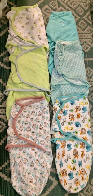 33983603ab5 6 Small medium baby swaddling sleepers .  4 each Your baby will likely  sleep through