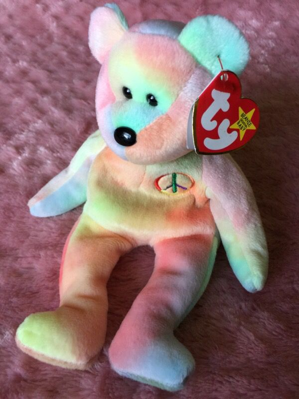 e2d53e2e1f1 Rare!! Ty Beanie Baby Pastel Peace for Sale in South Beloit