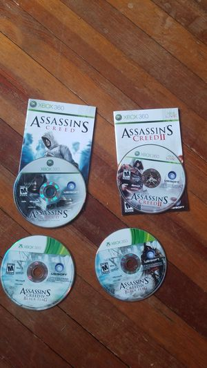 XBOX 360 Assassin's Creed I, II, IV Bundle for Sale in Denver, CO