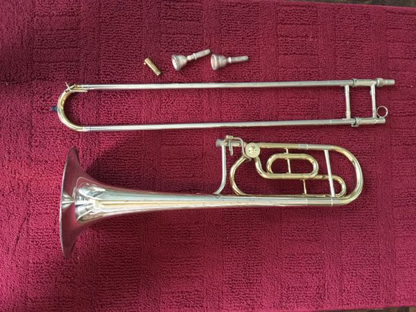 King 4B Silver Sonorous Trombone with F Attachment for Sale in Denison, TX  - OfferUp