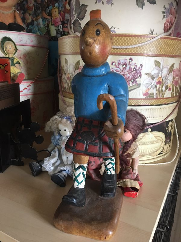 Tintin In Kilt Wood Carving Adventures Of Tintin Adventures Of Tintin Wood Carving Tintin In Kilt This Figure Of The Cult Classic Character Tinti