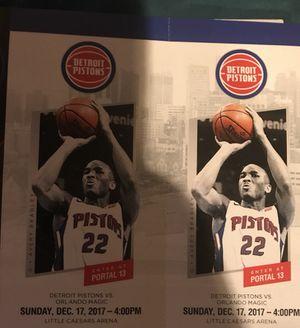 Detroit Pistons vs Orlando Magic tonight for Sale in Detroit, MI
