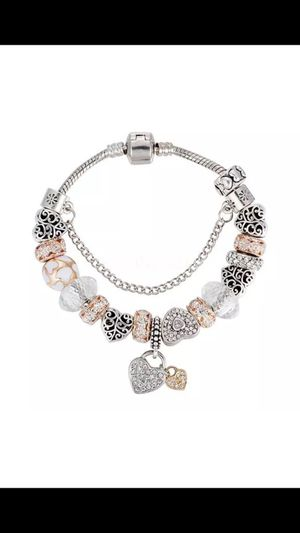 New 925 Silver and crystal charm Bangle Bracelet for Sale in Clifton, VA