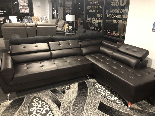 dark brown leather sectional sofa for sale in dallas tx offerup