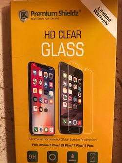 iPhone 6-8 plus HD clear glass and cover Thumbnail