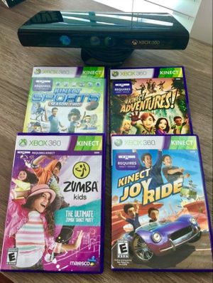 XBOX 360 Kinect & 4 Games for Sale in Hanover, MD