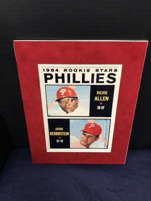 """8x10 Rookie Reprint Suiting For Signing! The 1964 NL Rookie of the Year, """"Richie Allen""""! His Home Run Distances went Unparralled in this time frame! for Sale in Fairfax, VA"""