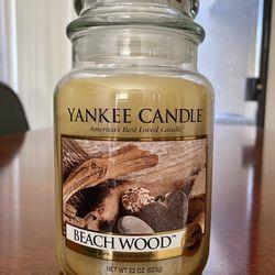 Yankee Candle 22oz BEACH WOOD very Rare! Thumbnail