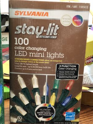 Stay Lit 100 Color Changing LED mini lights for Sale in Dallas, TX