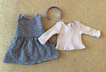 "American Girl 18"" Doll Purple Sparkle Jumper Thumbnail"