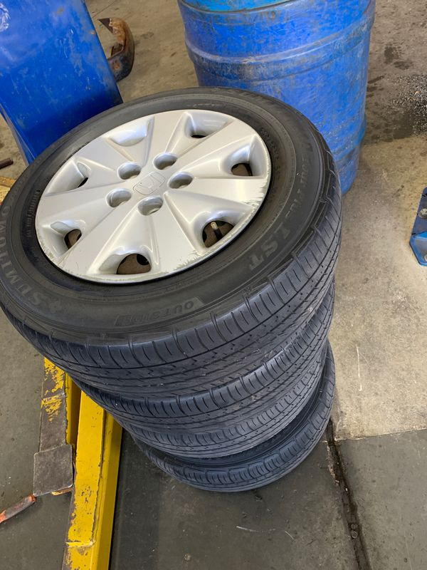 Hyundai Of Bowie >> 4 Honda Accord used tire ( 205/65R15) and rims for Sale in ...