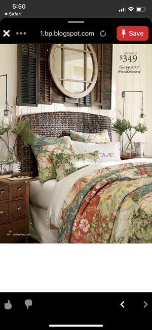 Photo Pottery Barn King Tropical bed set