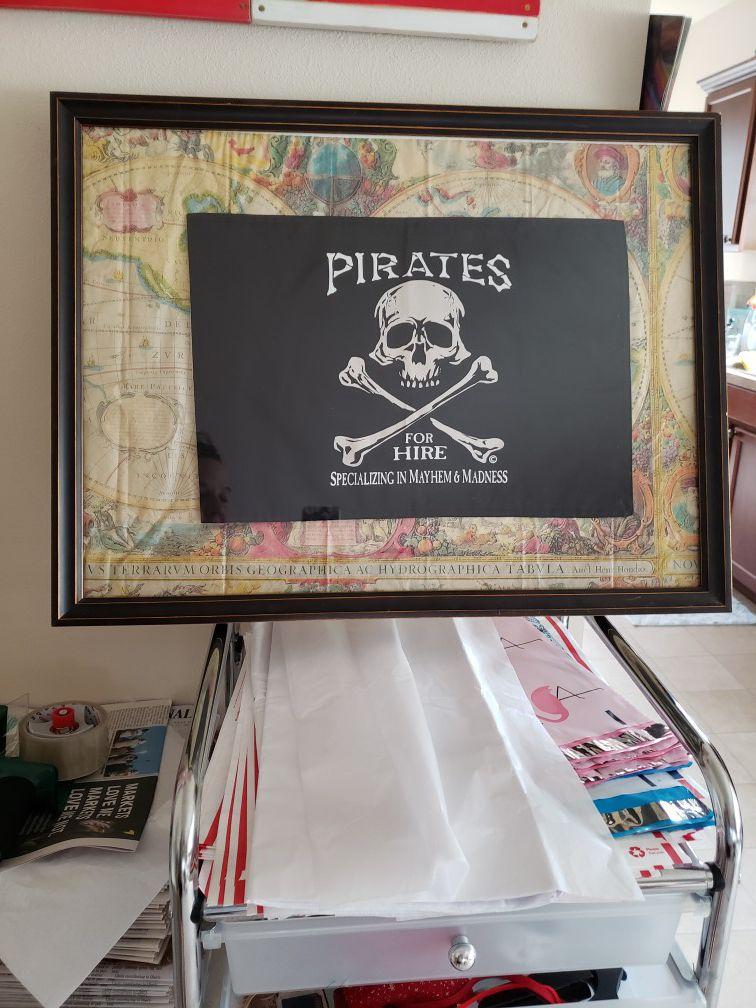 Framed Pirate Flag