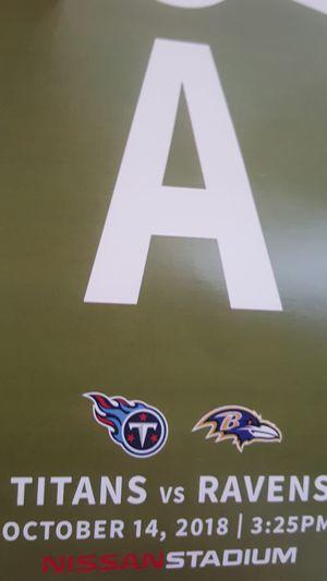 Titans Vs Ravens Parking Pass Lot A for Sale in Nashville, TN