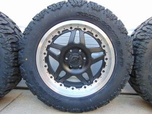Photo NEW *6 LUG* Satin Black 20X9 Gear Alloy Rims LT 285 55 20 Mud Tires