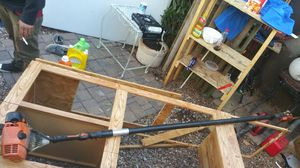 Stihl gas chainsaw pole saw old but really good money maker for Sale in Chandler, AZ
