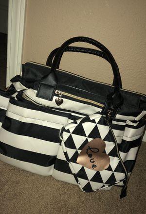 Cute tan & Black Baby girl diaper bag comes with diaper changer for sale  Wichita, KS