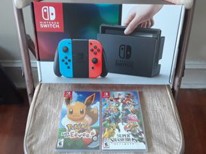 Brand New Nintendo Switch With 2 Games! for Sale in Philadelphia, PA