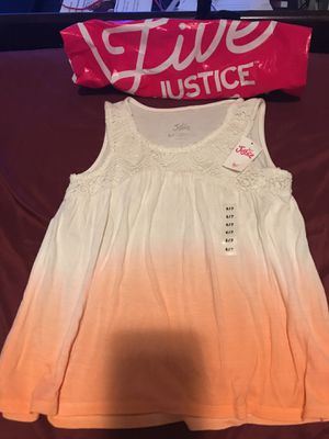 Justice cute top size kids size 6/7 New with tag Regular price $22.90 for Sale in Mount Rainier, MD