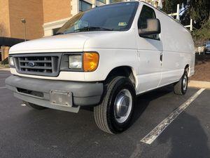 2004 FORD E250 CARGO VAN EXTENDED LADDER RACKS WORK BINS FULLY ENCLOSED for Sale in Rockville, MD