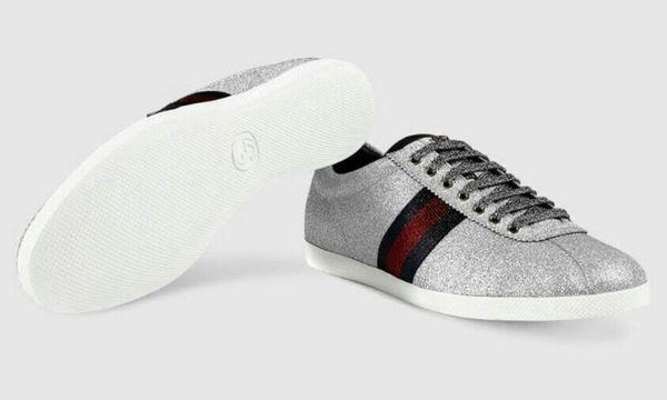 072e41551de Gucci  020 Glitter Web Sneaker with Studs