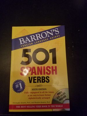 Spanish verbs (includes CD rom) for Sale in CO, US