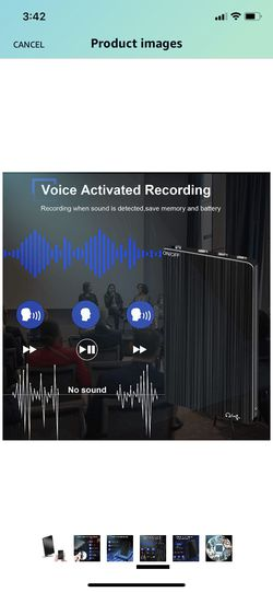 Brand New 16GB Digital Voice Recorder,Henf Voice Activated Recorder with 70 Hours Recording Time,Thinnest Audio Voice Recorder,HD Recording Device wit Thumbnail