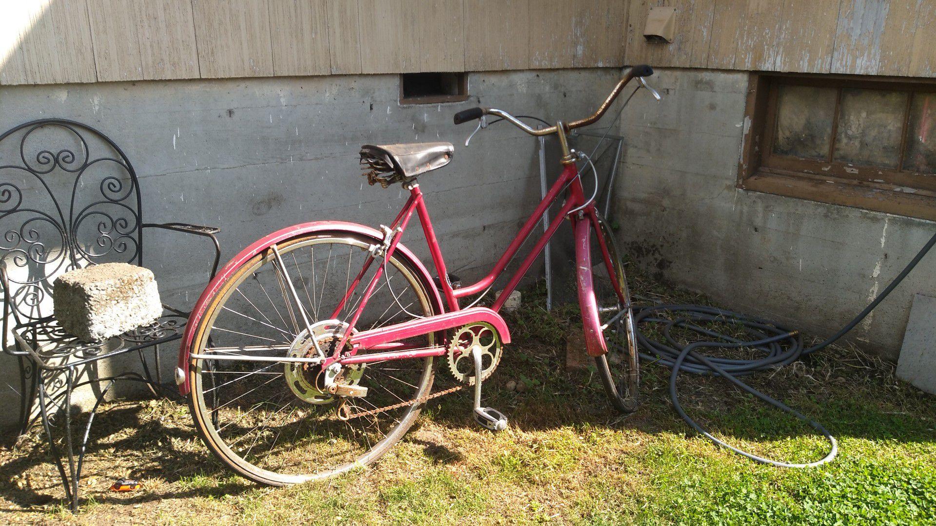 Antique Shwinn Bicycle. Offer me something..