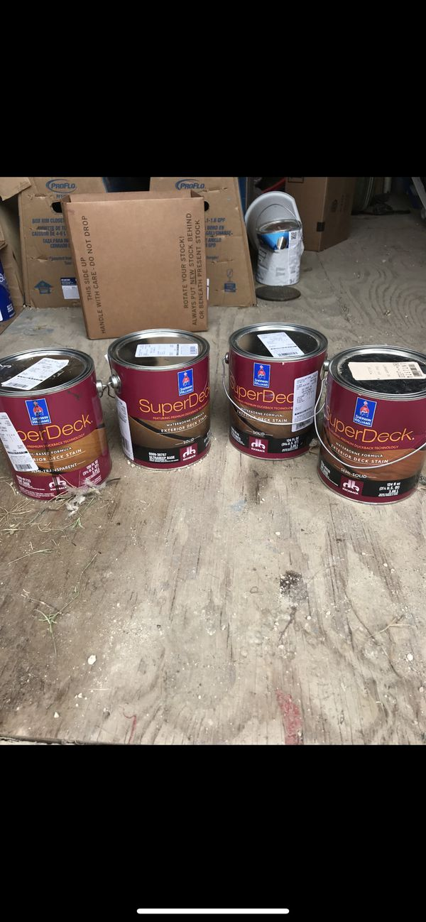 Exterior Deck Stain Semi Transparent 1 Semi Solid 3 For