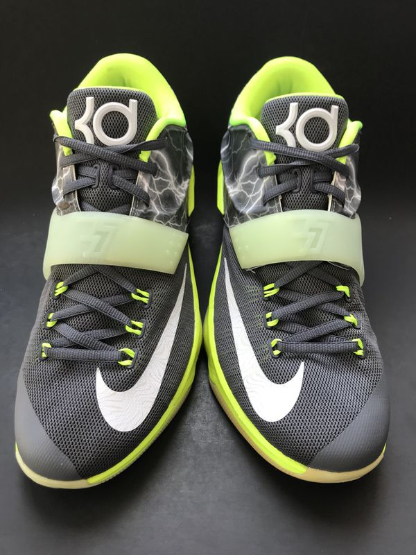 9c87ccc2007 Nike Zoom KD ID  Rare  yellow lightning basketball shoes Sz 11 for ...