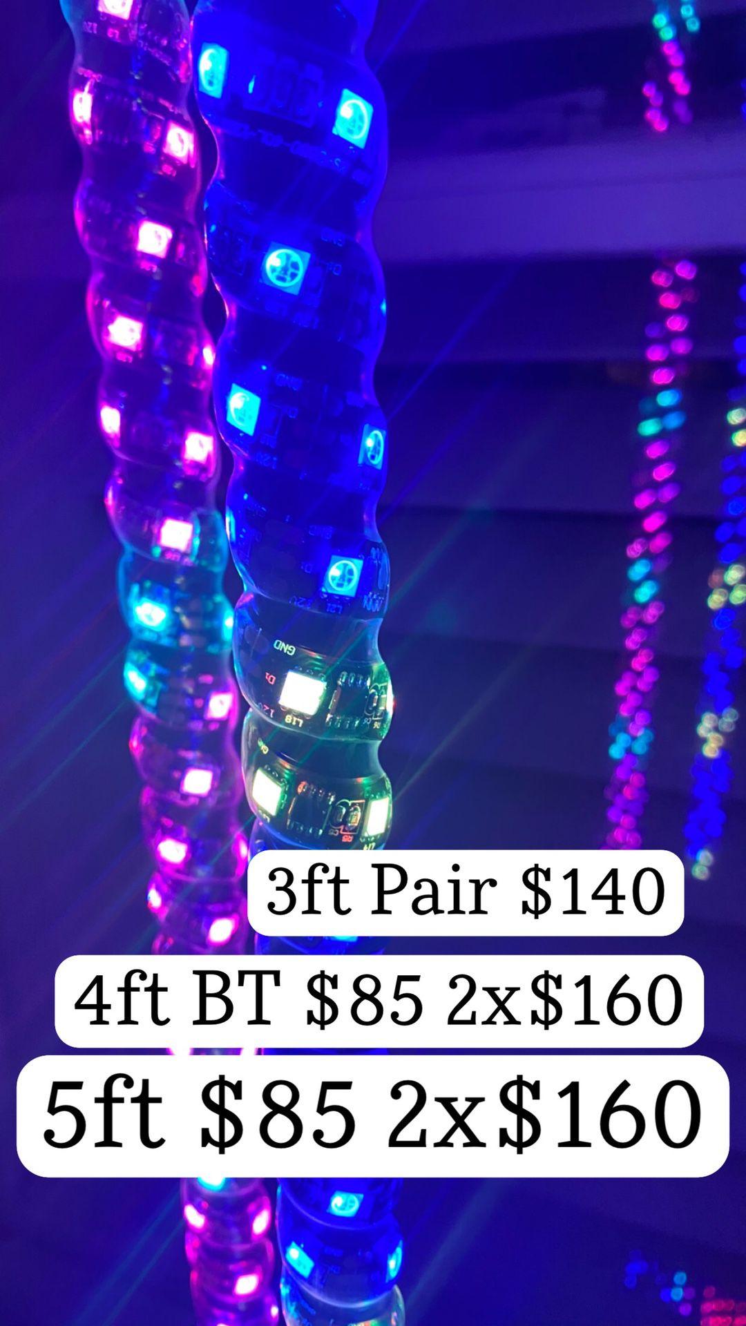 Led Whips Multi Color Rgb Spiral