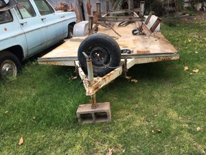 2axle 16 ft flatbed trailer no title for Sale in Laveen Village, AZ